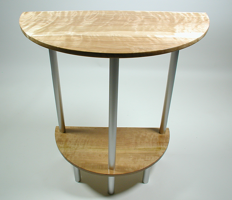 Demi-Lune Flame Birch Table