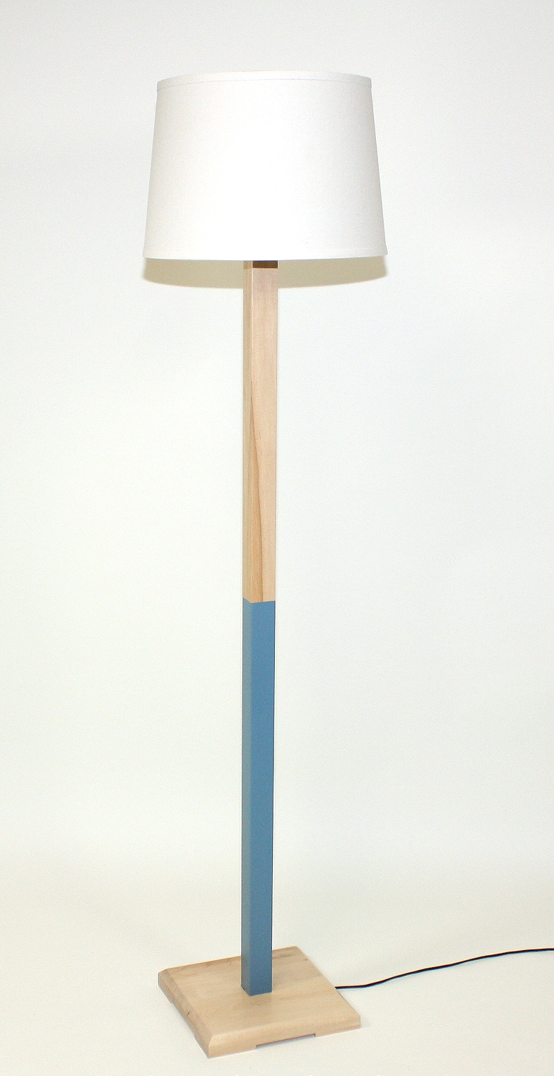Bahama Blue (Maple) Floor Lamp