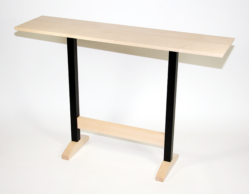 Console Table Maple with Black