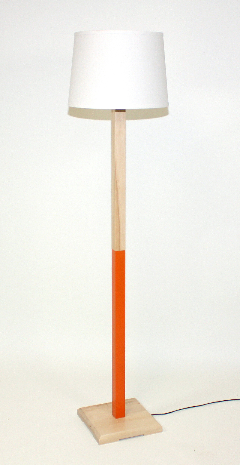 Orange (Maple) Floor Lamp