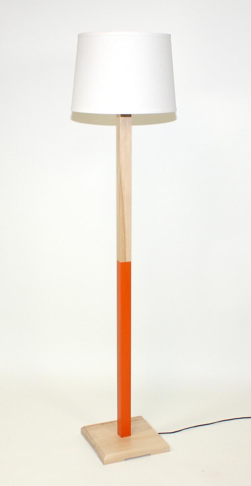 Orange (Maple) Floor Lamp