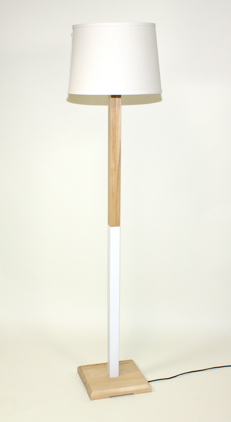 White (Maple) Floor Lamp