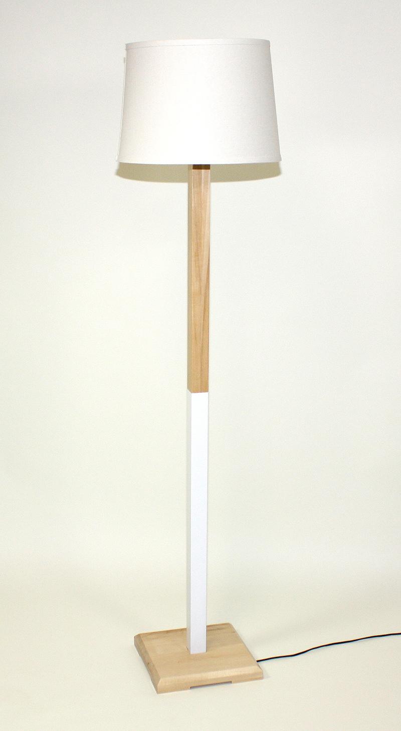White (Maple) Floor Lamp