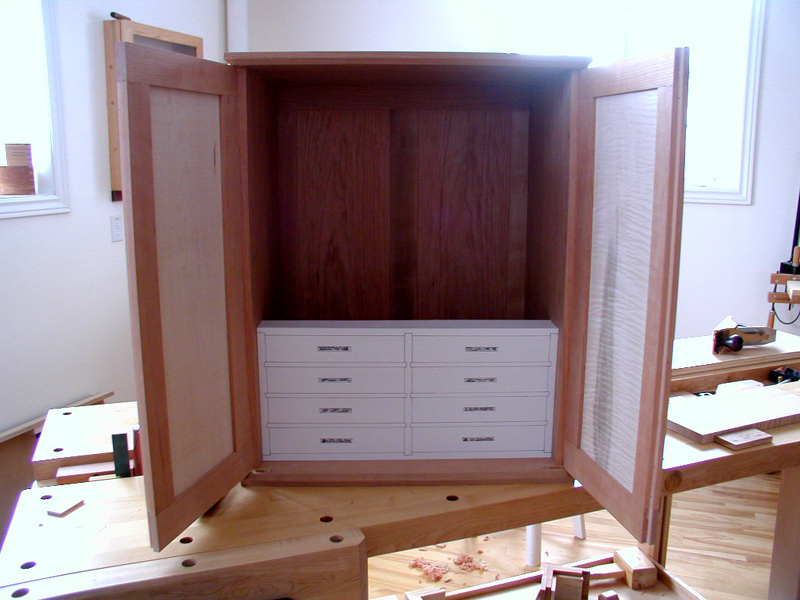 Display Cabinet Drawer Mockup