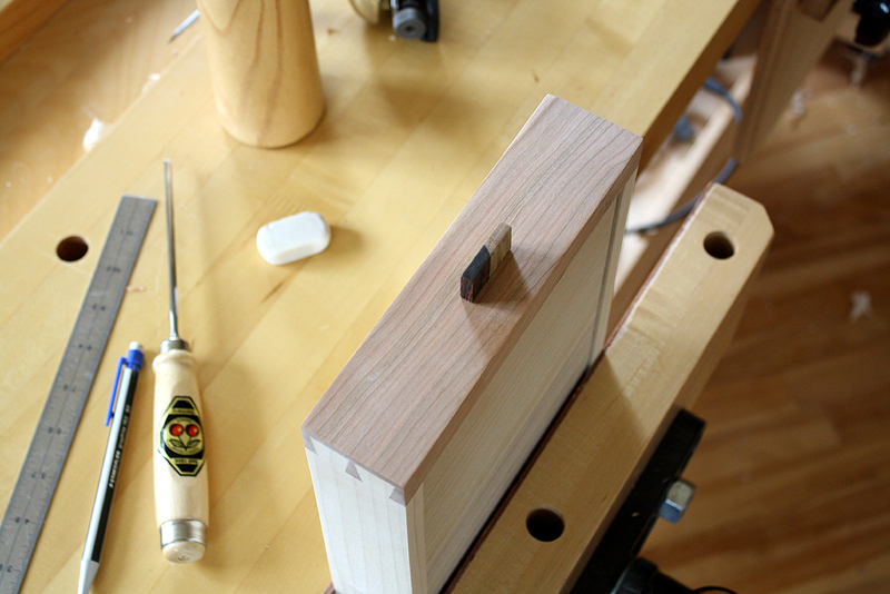 Drawer pull inserted into drawer mortise