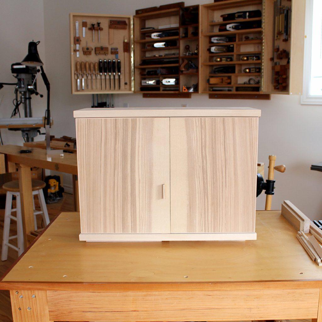 Zebrano Cabinet Exterior